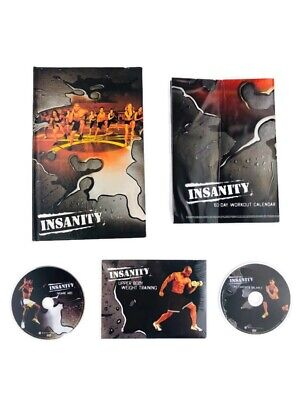 Insanity Dig Deeper 10 DVD Set w/ 3 Extra DVD's & Calendar Workout Exercise