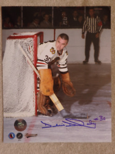 DENIS DEJORDY Chicago Blackhawks Autographed 8x10 Photo W/COA