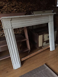 SOLD!C 1870 LARGE ANTIQUE PINE MANTEL from an early home in N.S.