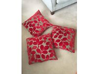 3 X large feather cushions - £20