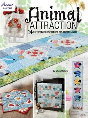 Quilting Pattern Book ANIMAL ATTRACTION ~ 14 Designs, Lamb, Cow, Owl, Flamingo +