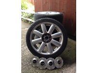 "x2 Mini Cooper S 17"" alloys with tyres"