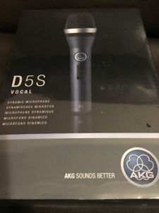 AKG D5s Handheld Supercardioid Dynamic Microphone, New ,Sealed