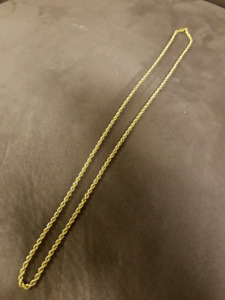 14k 28 inch gold rope chain.