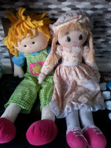 2 Large Stuffed Dolls