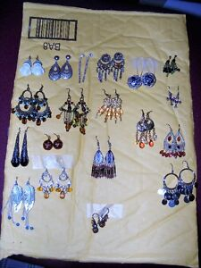 19 PAIRS OF PIERCED EARRINGS - SELLING AS 1 LOT ONLY