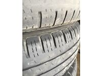 Transit 195 70 15 wheels n tyres good condition
