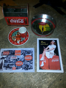 Article coca cola, enseigne coca-cola, lot d articles coke