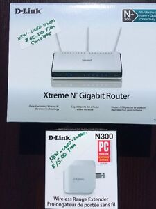 Gig-ABit N300 D-link Router & Wifi Extender - Almost new Peterborough Peterborough Area image 1