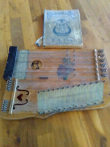 Antique Guitar Zither Harp