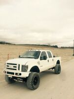 Lifted Ford F-250 Pickup Truck