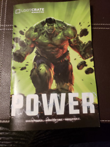 """May 2016 """"Power"""" Loot Crate Box with box and all contents"""