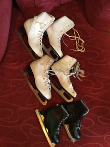 Figure skates size 7, 5, and children's 11