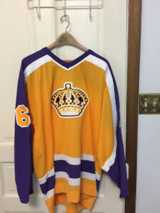 NHL PERSONALLY SIGNED SWEATERS ( MARCEL DIONNE)