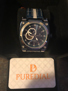Puredial Powersphere Leather Watch (PDPSL7000)