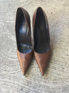 Aldo brown high heels