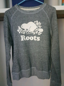 Roots gray med sweat shirt