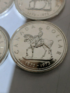 1973 Canadian Silver Dollars x 24