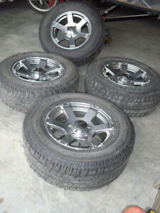 """4 Alloy Dodge Truck Rims 17"""" Core Racing 5 Bolt with tires"""
