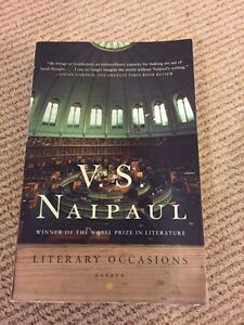 V.S Naipaul Literary Occasions essays