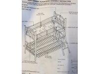 Futon bunk bed Brand new in box with futon mattres
