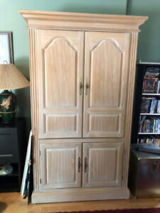 Solid Maple Armoire.