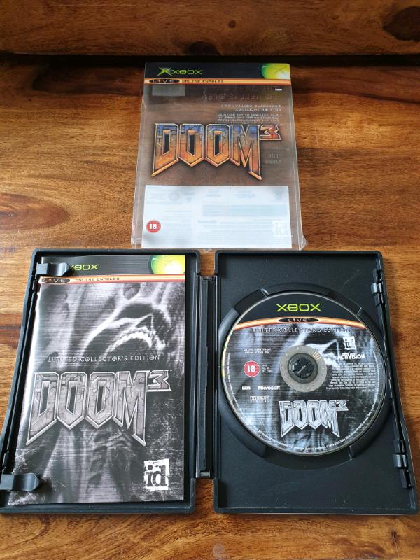 Doom 3- Xbox Orginal/360 Fully Complete Limited Edition Rare   in  Blaydon-on-Tyne, Tyne and Wear   Gumtree