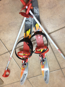 Toddler skis and poles