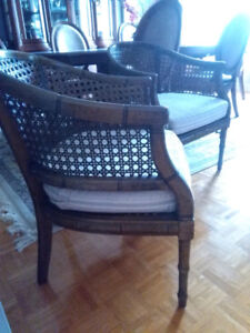2 Antique Wicker Barrel Chairs