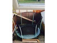 8ft trampoline green n black
