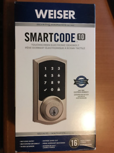 SMARTCODE 10 TOUCH ELECTRONIC LOCK IN SATIN NICKEL