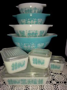 Pyrex Butterprint Cinderellas and Refrigerator Dish Set