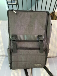 Grey Ogio Canvas Backpack with laptop sleeve