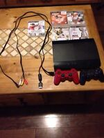 PS3 PlayStation with 5 games