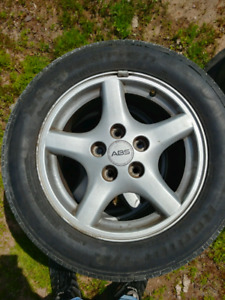 4 firebird rims with lug nuts