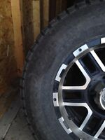 LT265/70R17 set of 4 and rims
