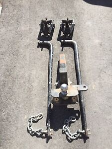 Stabilizer kit for heavy trailer including 2 inch ball