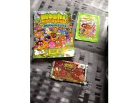 Moshi Monsters book& stickers& cards.