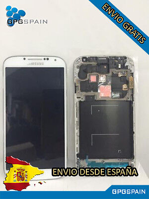 PANTALLA SAMSUNG GALAXY S4 I9506 COMPLETA BLANCA( LCD+PANEL TACTIL+MARCO MRW24H