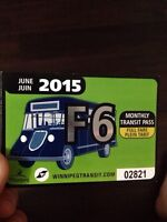 JUNE Bus pass full fare 75$ firm