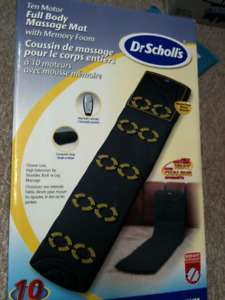 DR Scholls new in box ten motor full body message mat with foa
