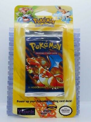 1999 Pokemon Base Set Sealed 11-Card Booster Blister Pack Charizard (A) A45