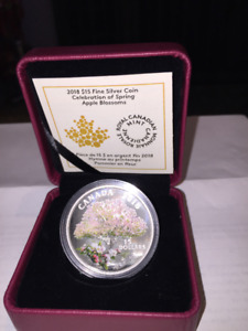 Royal Canadian mint 2018 Apple Tree Blossom coin set