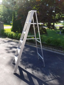 6' Aluminum Ladder with Tray