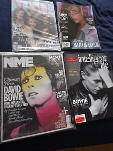 DAVID BOWIE PACKAGE DEAL:2 MAGS,1 ZIGGY STARDUST VHS,PIC CARD