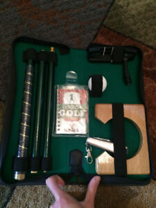 Glenfiddich right handed golf putter in zip case and shown acces