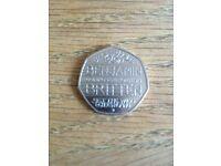 Rare 50p coin Benjamin britten