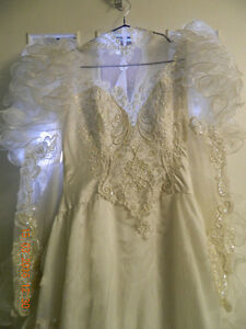 Ad#4 - Long pure white beaded wedding gown & 4 ft train
