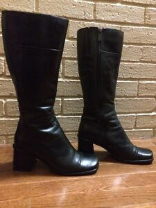 Black Leather Boots by Transit   Size 8 or 38