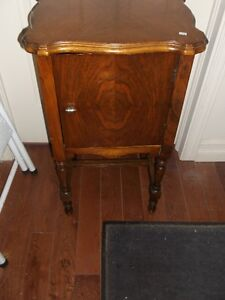 Antique Wooden four legged Smoking Pipe Stand with door